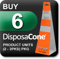Disposacone Orange Disposable Traffic Cones